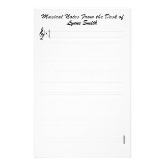 Personalized Musical Notes Personalized Stationery