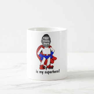 "Personalized ""My Dad is My Superhero!"" Mug"