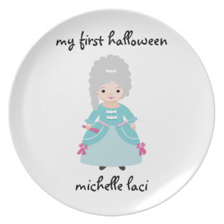 Personalized My First Halloween Plate-French Cos. Plate