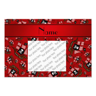 Personalized nam red pirate ships art photo