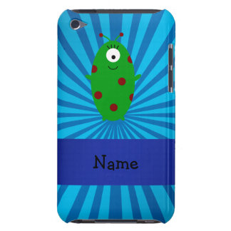 Personalized name alien blue sunburst iPod touch cases