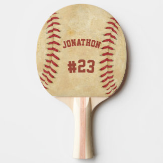 Personalized Name and Number Baseball Ping Pong Paddle