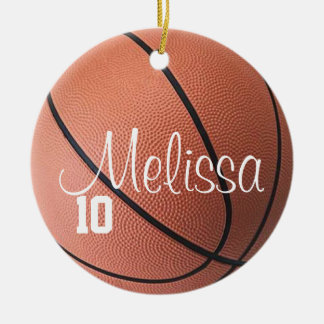 Personalized Name and Number Basketball Ornament