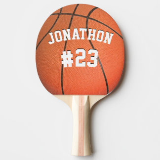 Personalized Name and Number Basketball Ping Pong Paddle