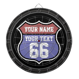 Personalized Name and Number Road Sign Dartboard