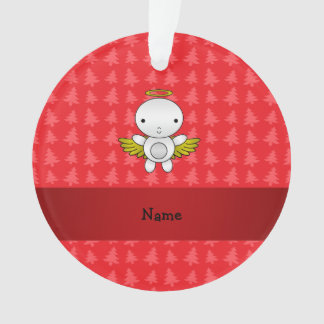 Personalized name angel red christmas trees