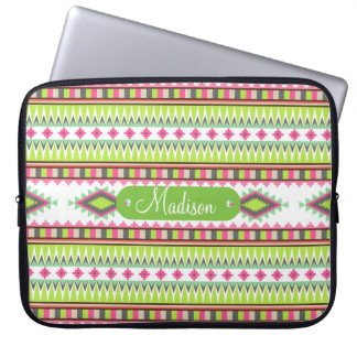 Personalized Name Aztec Andes Tribal Mountains Laptop Sleeve
