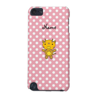 Personalized name baby giraffe pink polka dots iPod touch 5G cover