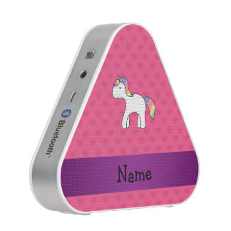 Personalized name baby unicorn pink hearts