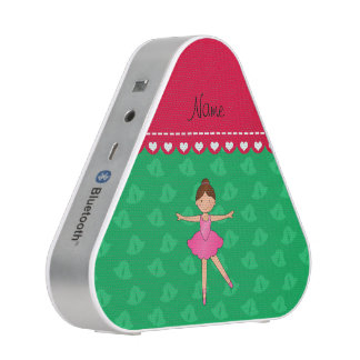 Personalized name ballerina green bells