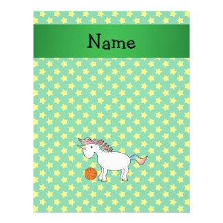 Personalized name basketball unicorn stars personalized flyer