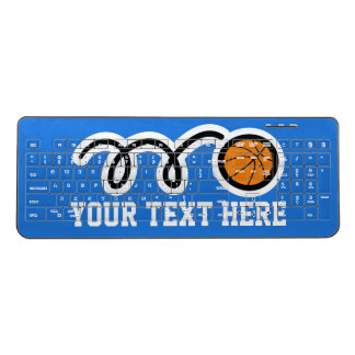 Personalized name basketball wireless usb keyboard