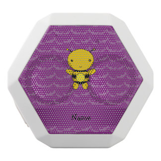 Personalized name bee purple bats white boombot rex bluetooth speaker