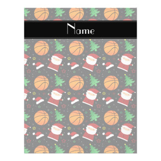 Personalized name black basketball christmas flyer