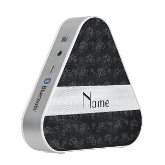 Personalized name black bicycles bluetooth speaker