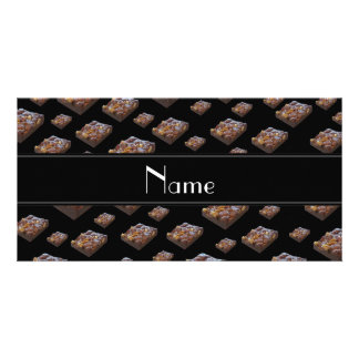 Personalized name black brownies customized photo card