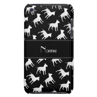 Personalized name black bull terrier dogs barely there iPod cases