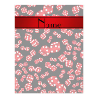 Personalized name black dice pattern 21.5 cm x 28 cm flyer