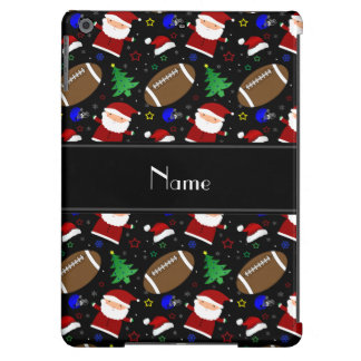 Personalized name black football christmas iPad air covers