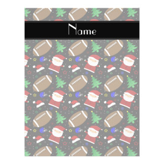 Personalized name black football christmas custom flyer