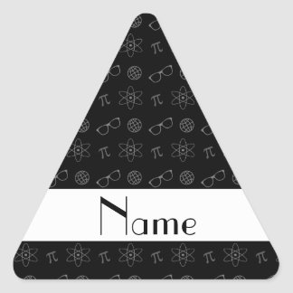 Personalized name black geek pattern stickers