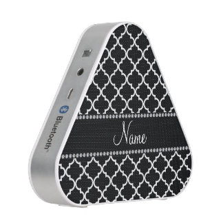 Personalized name Black moroccan Bluetooth Speaker