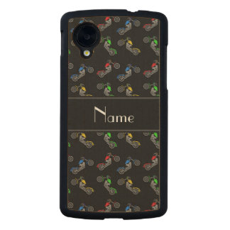 Personalized name black motorcycles carved® maple nexus 5 slim case