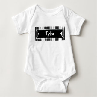Personalized Name Black Name  Baby Boy  Bodysuit