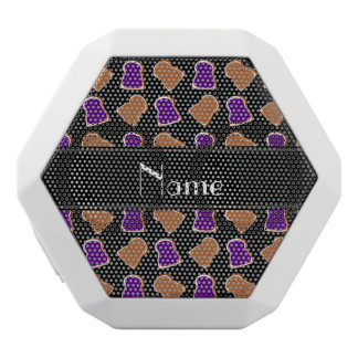 Personalized name black peanut butter jelly white boombot rex bluetooth speaker