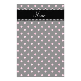 Personalized name Black pink diamonds Stationery Paper