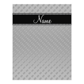 Personalized name black polka dots flyer design
