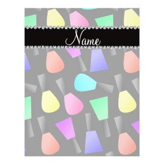 "Personalized name black rainbow nail polish 8.5"" x 11"" flyer"