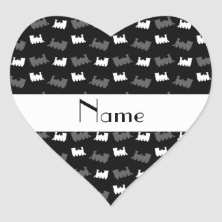 Personalized name black train pattern stickers