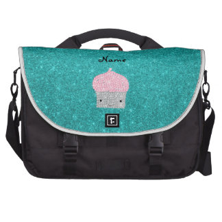 Personalized name bling cupcake diamonds commuter bag