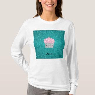 Personalized name bling cupcake diamonds T-Shirt