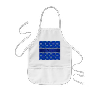 Personalized name blue diamonds aprons