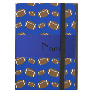 Personalized name blue footballs iPad air cases