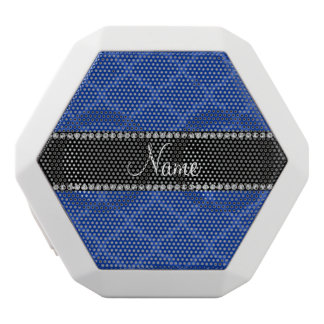 Personalized name Blue moroccan White Boombot Rex Bluetooth Speaker