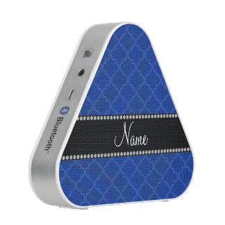 Personalized name Blue moroccan Speaker