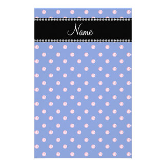 Personalized name Blue pink diamonds Stationery Paper