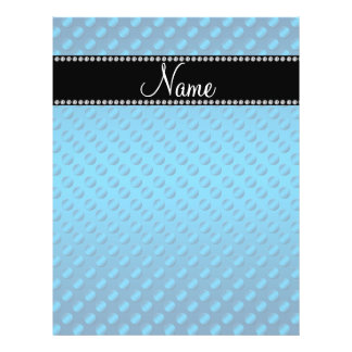 Personalized name blue polka dots full color flyer
