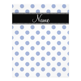Personalized name blue polka dots flyer