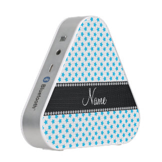 Personalized name Blue stars Bluetooth Speaker