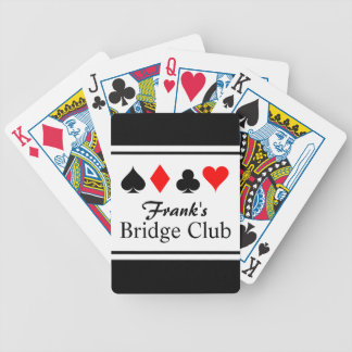 Personalized name bridge playing cards
