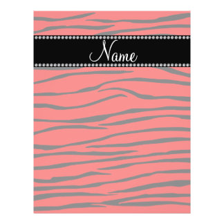 Personalized name bright red zebra stripes personalized flyer