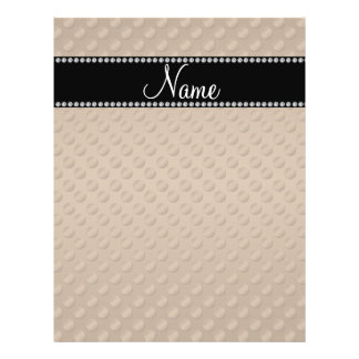 Personalized name brown polka dots flyer