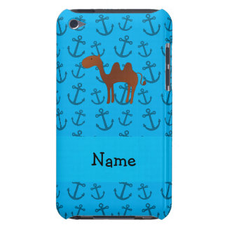 Personalized name camel blue anchors pattern iPod touch Case-Mate case