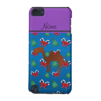Personalized name camel blue candy canes bows iPod touch (5th generation) cases