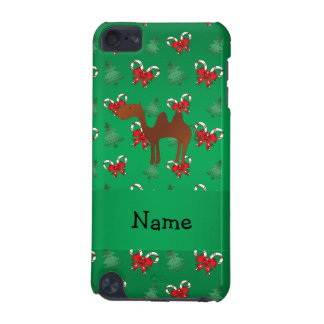 Personalized name camel green candy canes bows iPod touch 5G cover