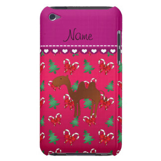 Personalized name camel magenta candy canes bows barely there iPod cases
